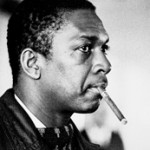 Coltrane with cigar